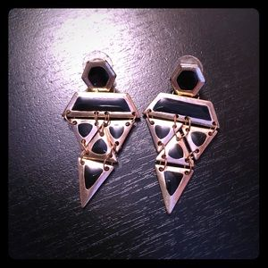 H&M black and gold earrings